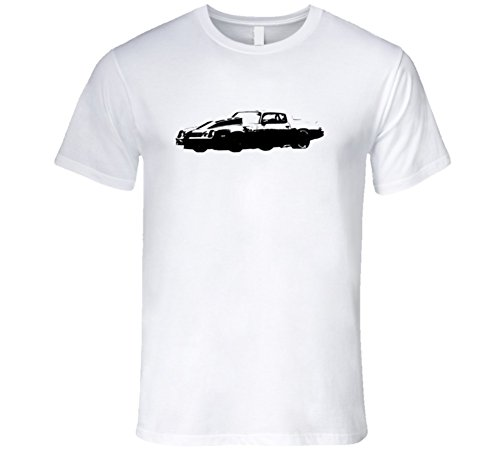 CarGeekTees.com 1981 Camaro Z28 Cowl Hood Side View Faded Look Light Color Color Car Lover Gift Enthusiast T Shirt 2XL White