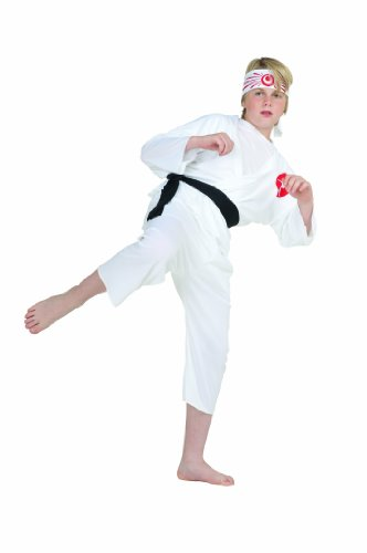 RG Costumes Karate Boy Costume, White, Large -