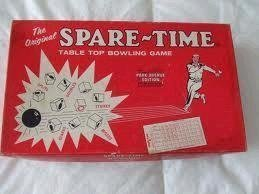 Spare-Time Table Top Bowling Game Park Avenue Edition 1964