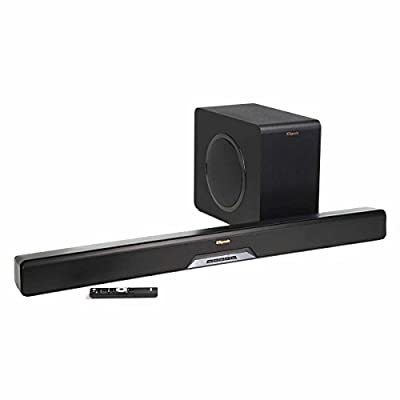 Klipsch RSB-14 Reference Sound Bar with Wireless Subwoofer with RW-1 Wireless Speakers - Pair (Black)