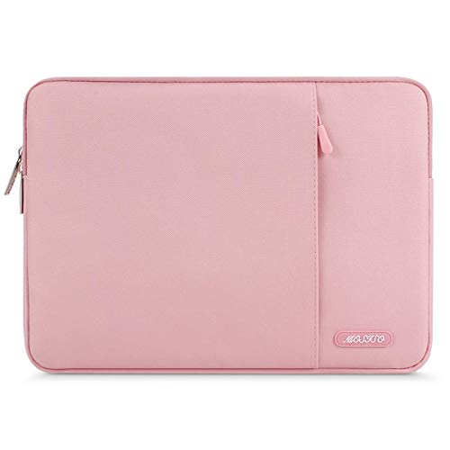 MOSISO Tablet Sleeve Compatible with 9.7-11 inch iPad Pro, iPad 7 10.2 2019, iPad Air 3 10.5, iPad Pro 10.5,Surface Go 2018,iPad 1/2/3/4/5/6,Water Repellent Polyester Vertical Pocket Bag, Pink (13 Inch Vs 15 Inch Laptop For College)