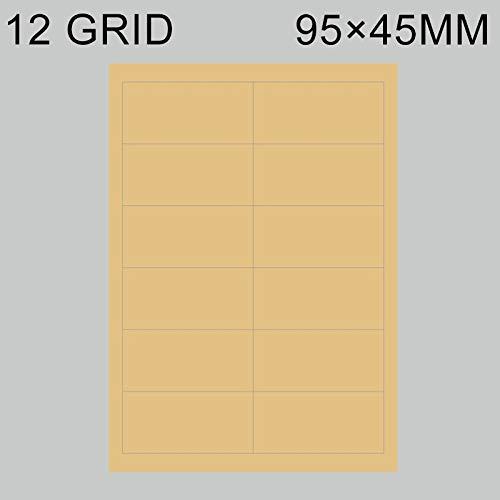 Papel de Impresora Autoadhesivo Flexible de 12 Rejillas, 500 PCS ...