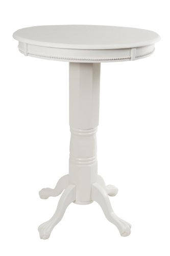 Boraam 71442 Florence Pub Table, 42-Inch, White