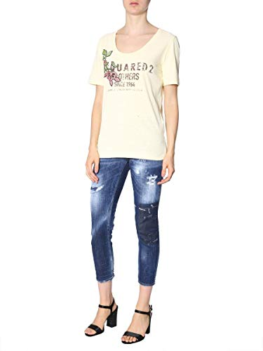 T Dsquared2 Donna Cotone shirt Giallo S72gd0099s22507150 6wqBFdw1
