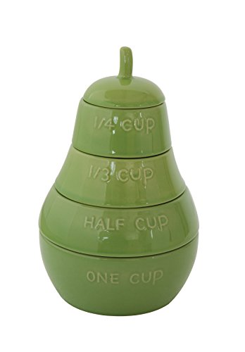 (Creative Co-Op Pear Shaped Stacking Measuring Cups)