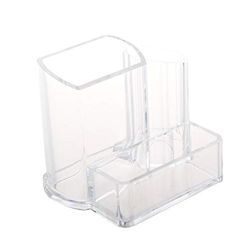Assyrian Clear Acrylic Desk Cosmetic Lipstick Brush Holder Makeup Storage Case - Storage Case