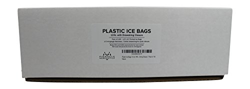 Plastic Ice Bags With Draw String Closure - Pack of 100 by Pinnacle Mercantile (Image #1)