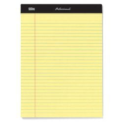 Top Double 50 Sheets Stitched (Office Depot Professional Legal Pad, 8 1/2in. x 11 3/4in, Legal Ruled, 50 Sheets Per Pad, Canary, Pack Of 8 Pads, 99527)