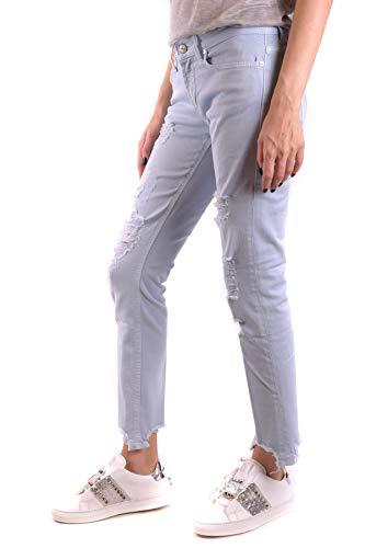 Mujer Dondup Algodon Azul Jeans Ezbc051103 Claro HHFqxw5r1