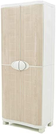 Plastiken Armario SPACE SAVER 70cm ESCOBERO con puertas imitación madera de HAYA (70cm de ancho x 45cm de hondo x 184cm de alto): Amazon.es: Bricolaje y herramientas