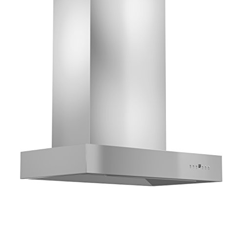 Z Line KECOM-RD-36 1200 CFM Wall Mount Range Hood with Remote Dual Blower, 36