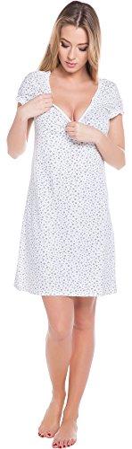 Italian-Fashion-IF-Allattamento-Camicia-da-Notte-per-Donna-Cindi-Mama-0114