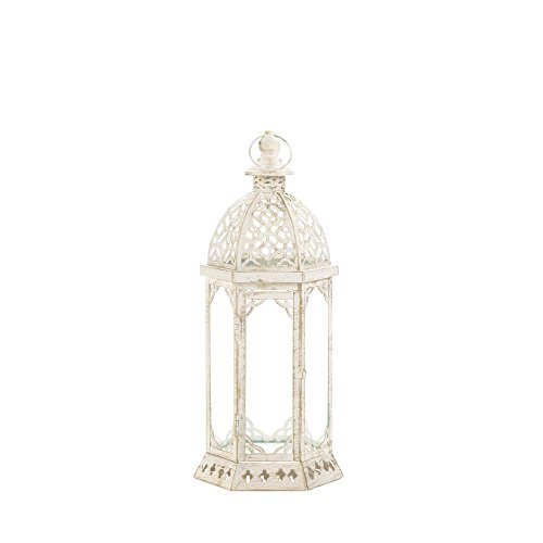 Sunshine Megastore Graceful Distressed White Small Lantern