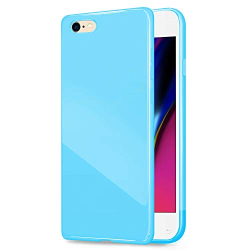 iPhone 6/6S (4.7 inch) Jelly Case, ANLEY [Candy Fusion] Series Jelly Silicone Case Soft Cover for Apple iPhone 6 / 6S (Sky Blue) + Free Screen Protector