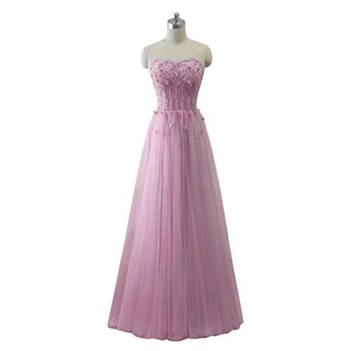 King's Perlen Tulle Abendkleid Love Schatz Ballkleider 50 Maxi Long Formal Frauen EEqSfUr