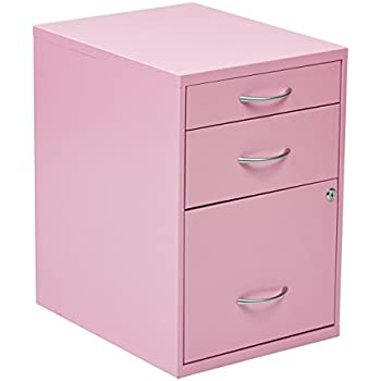 Amazon Com Office Star 3 Drawer Metal File Cabinet Pink