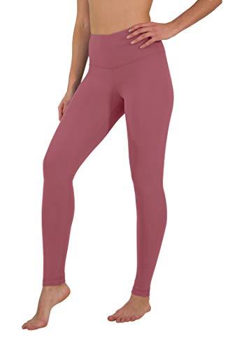 Yogalicious High Waist Ultra Soft Lightweight Leggings - High Rise Yoga Pants- Vintage Magenta - Large ()