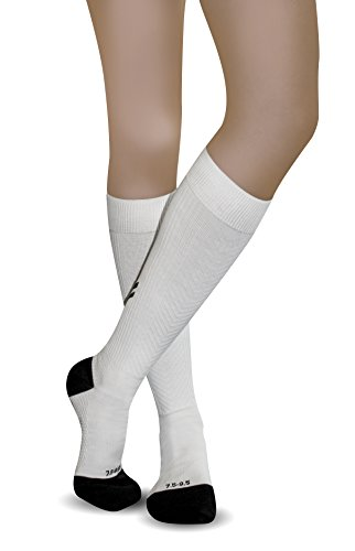 AprilTex Sport Compression Socks - Long, Over the Calf - Helps Improve Circulation & Provides Arch Support for Running - Reduced Leg Pain, Plantar Fasciitis, Swelling, Varicose Veins