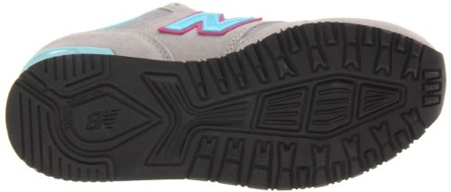 New Balance Girls 565 pre-school Classic Shoes Light Grey with Bay Blue & Purple