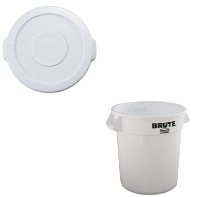 KITRCP2609WHIRCP2610WHI - Value Kit - Rubbermaid 2610WH, Round Brute 10 Gallon Container w/o Lid, White (RCP2610WHI) and Rubbermaid White Round Brute Lid for 2610 Container (10 Gallon Brute Round Container)