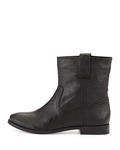 FRYE Womens Anna Short Leather Closed Toe Ankle Fashion Boots, Black, Size 6.0