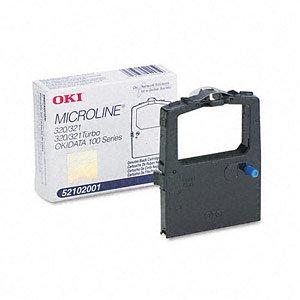 Okidata Genuine Brand Name, OEM 52102001 Black Ribbon (3M characters) for MicroLine 120, 172, 180, 182, 183, 184 Turbo, 186, 192, 192 Plus, 193, 320, 320 Turbo, 321, 321 Turbo, ()