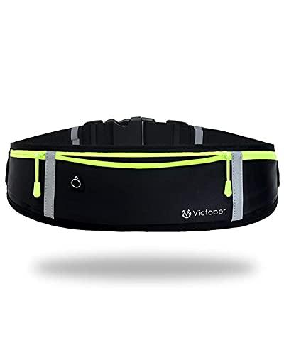Running riem taille Pack- regendichte telefoon houder voor trainingen, reizen & meer–Running Pouch met Reflecterende…