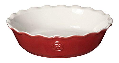 Red Mini Dish (Emile Henry 366122 HR Ceramic Mini Pie Dish, Rouge)