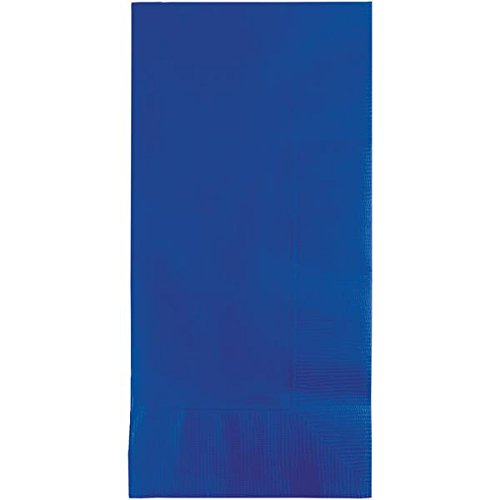 Creative Converting 319028 100 Count 1/8 Fold Dinner Napkins, Cobalt (Cobalt Blue Napkins)