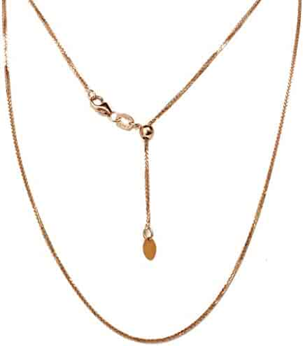 14K Two Tone Gold Dolphin Charm Pendant with 0.8mm Box Chain Necklace