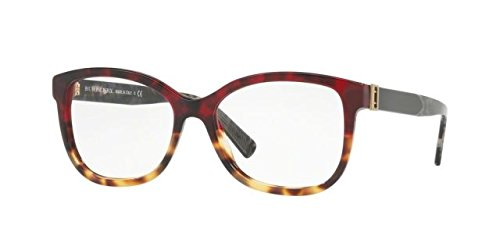 Burberry BE2252 Eyeglass Frames 3635-52 - Red Havana/light Havana BE2252-3635-52