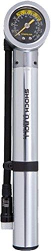 Topeak Shock N Roll Hand-Shock Pump with Gauge (Steel, 9.8 x 1.9 x 1.5-Inch)