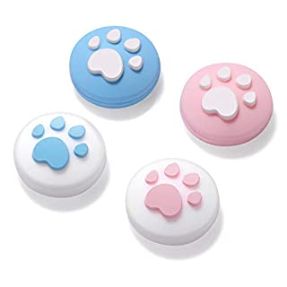 Thumb Grip Silicone Joystick Caps , Analog Stick Cover for Nintendo Switch/Lite Joy-Con Controller 2 Pairs (Blue+Pink)