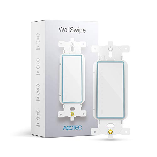 Aeotec WallSwipe, Wall Panel Controller with Slider for Dimmer Switches, Curtain Blinds, Appliance, built-in PIR sensor to Read Gestures, works with all Nano Range products