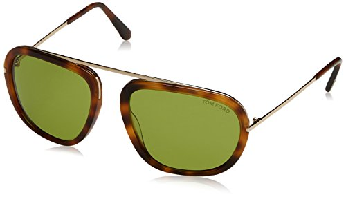 Tom Ford Sunglasses TF 453 Johnson Sunglasses 52N Havana - Mens Sunglasses Ford Tom Aviator