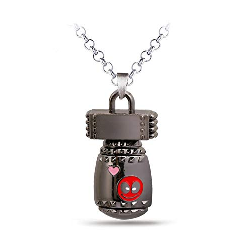Mct12 - New Fashion Deadpool Choker Necklace Metal Deadpool ...
