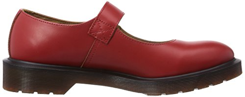 Dr. Martens SATIVA Vintage Smooth Damen Mary Jane Halbschuhe Rot (Red)