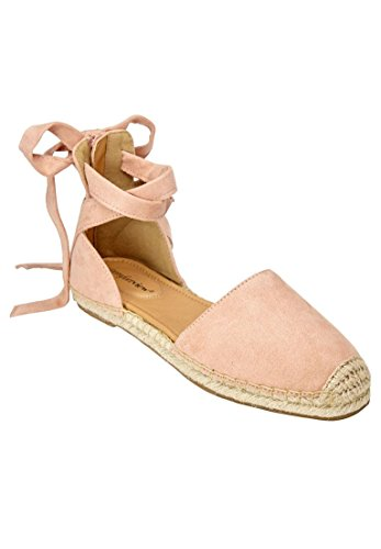 Comfortview Womens Wide Shayla Flats Dusty Pink
