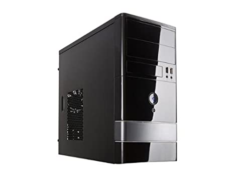 ROSEWILL Micro ATX Mini Tower Computer Case, Steel and plastic computer case with 1x 120mm front fan and 1x 80mm rear fan, Front I/O and 2x USB 2.0 ...
