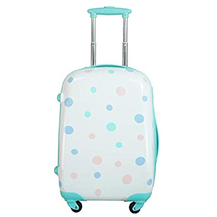 6990211f2f3 Ambassador Luggage Polka Dot Print Style Luggage Travel Spinner Suitcase