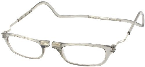 CliC Reader XXL Single Vision Half Frame Designer Reading Glasses, Smoke, - Frames Vision Glasses
