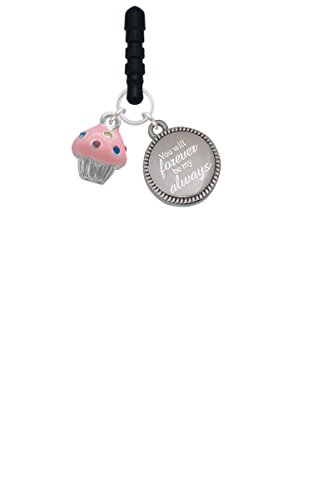 small-pink-cupcake-with-crystal-sprinkles-forever-be-my-always-phone-charm