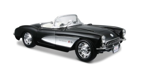 Maisto 1:24 Scale Black 1957 Chevrolet Corvette Diecast -