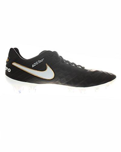 Nike Mens Tiempo Legend Vi Fg Scarpe Da Calcio, Grigio, Uk Nero / Bianco (nero / Bianco-nero-mtlc Vvd Gld)