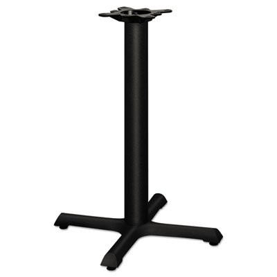 Single Column Cast Iron Base, 22w x 22d x 27-7/8h, Black, Sold as 1 Each by Generic