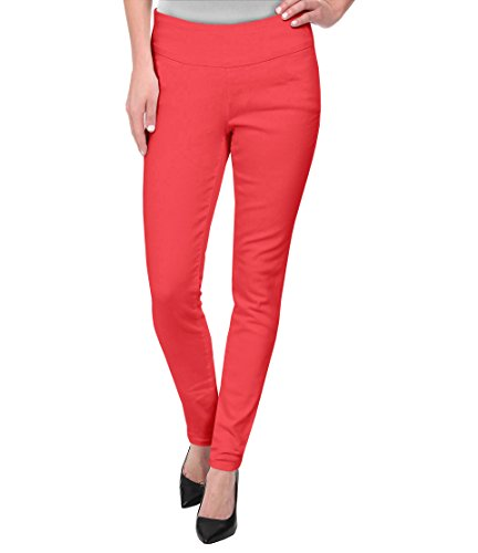 (HyBrid & Company Super Comfy Stretch Pull On Millenium Pants KP44972 Coral XLarge)