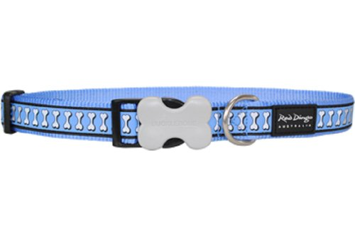 Kong Reflective Dog Collar Small Blue