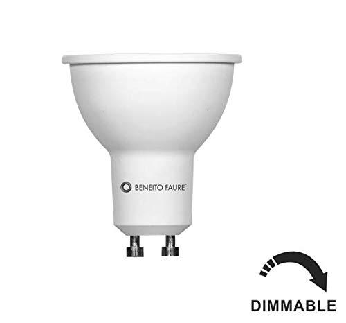 Beneito Faure Sistema GU10 8 W LED Bombilla Regulable equivalente a 75 W halógena Lámpara 650 lúmenes blanco cálido 3000 K 60 ° ángulo de haz: Amazon.es: ...