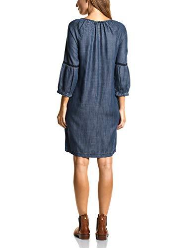 Damen Kleid Mid Blau Wash Used Blue Cecil 10320 6BxwZq6