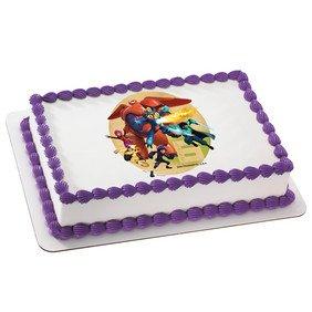 Disneys Big Hero 6 Crime Fighting Hero's Edible Cake Cupcake Cookie Image Topper (1/8 Sheet)